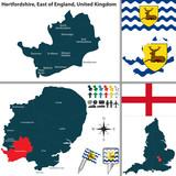 Hertfordshire, East of England, UK poster