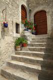idyllic doorsteps in italian village Santo Stefano di Sessanio i