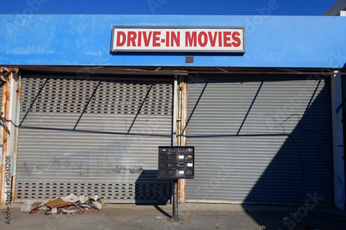 Poster drive in movies sign