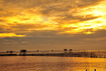 Seaside Landscape at Sunrise
