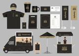 koncept pro kavárny a restaurace identity mock-up šablony karta menupolo shirtvector