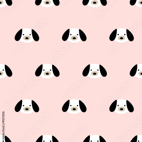 seamless cute dog pattern - 90278216
