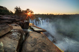 Fototapety Waterfall sunrise Kalandula