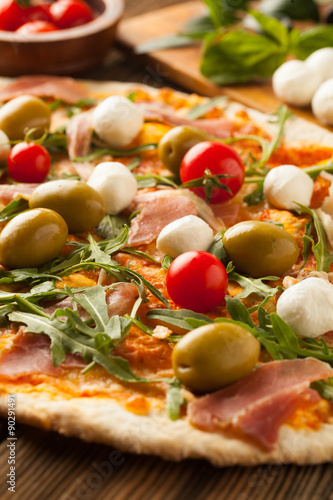 Poster, Tablou Pizza with  mozzarella