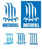 Fototapety waterfalls logo set
