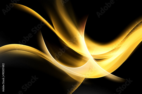 Gold Light Abstract Waves