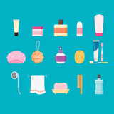 Bathroom stuffs, healthy, hygiene, cleanness, product, home decoration, household, objects