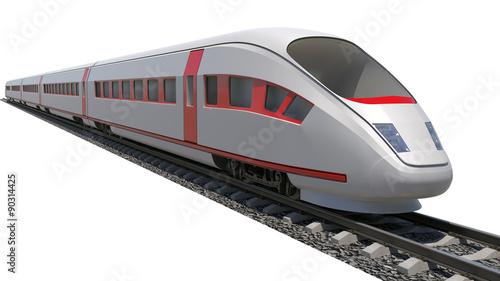 Fototapeta Train on white background