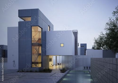 Fototapeta Building Photorealistic Render