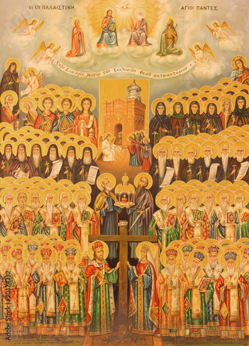 Jerusalem - icon of Hierarchy of Heaven in Church of Holy Sepulchre © Renáta Sedmáková
