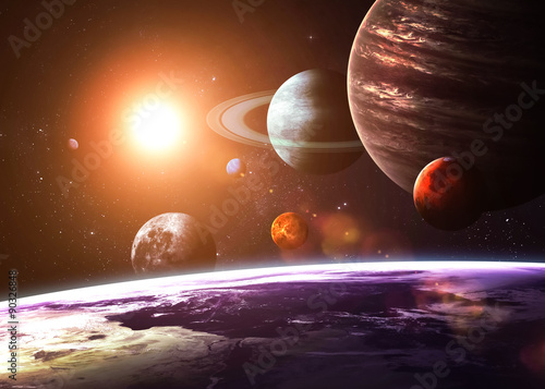 Solar system and space objects. Elements of this image furnished poster