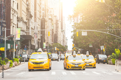 obraz PCV Typical yellow taxi in New York city