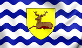 Flag of Hertfordshire County, England. poster
