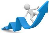 3d Männchen Gewinn Wachstum nach oben - 90368041