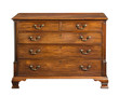Old original vintage wooden chest of drawers