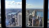Vue de Sydney depuis les fenêtres de la Sydney Tower, Sydney, Australie