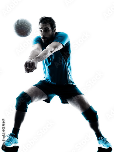 Poster man volleyball  silhouette