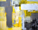 Fototapety Grey and Yellow Abstract Art Painting