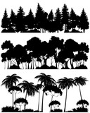 Three forests silhouettes