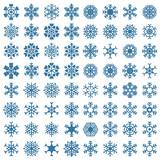 sada sněhové vločky vektorové ilustrace