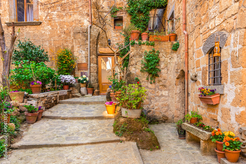 obraz PCV Alley in old town Tuscany Italy