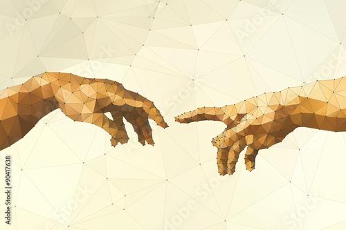 Fototapeta Abstract God's hand vector illustration