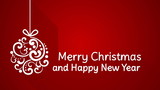 merry christmas and happy new year greeting. animation with long shadows 4k (4096x2304)