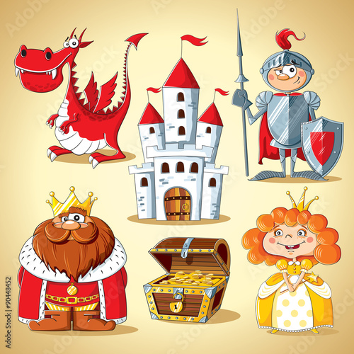 Zdjęcia na płótnie, fototapety, obrazy : Set of fairy-tale characters
