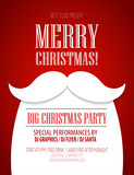 Fototapety Christmas party poster. Vector illustration