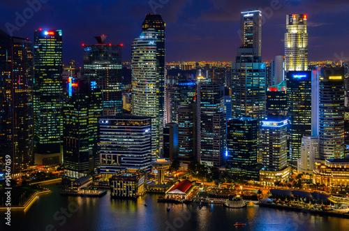 Deurstickers Amsterdam Singapore downtown