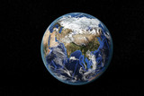 Detailed view of Earth from space, showing Asia and the Far East. Elements of this image furnished by NASA