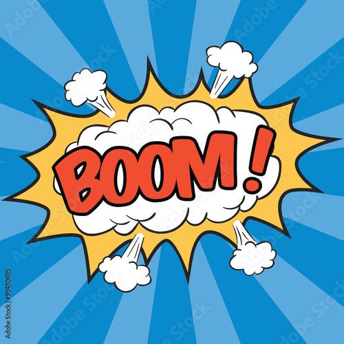 BOOM! Wording Sound Effect for Comic Speech Bubble
