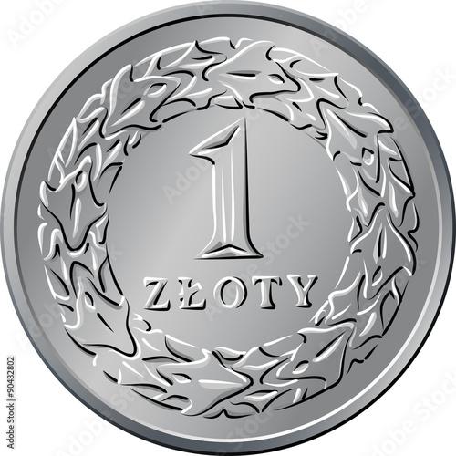 reverse Polish Money jedna złotówka