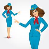 charming stewardess