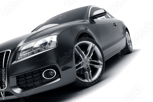 Plakat Modern black car