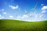 Fototapety Turbine Green Energy Electricity Technology Concept