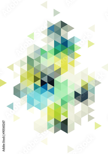Fototapeta abstract low poly background, vector