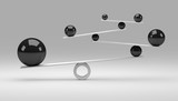 Grau-schwarzes Gleichgewicht