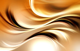 Gold Abstract Waves Art Light Background - 90602431