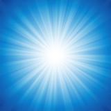 Blue Radiance Background poster