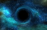 Black hole over star field in outer space