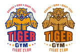Fototapety  logo for fighting club with angry tiger