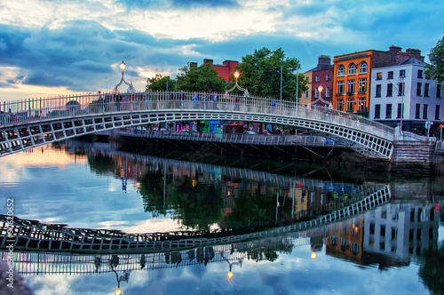Poster Bridge in Dublin