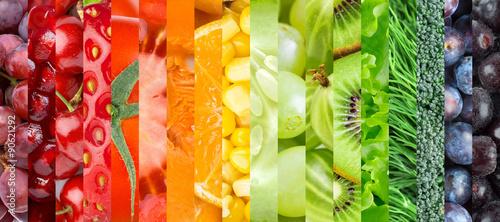 Fotobehang Vruchten Healthy food background