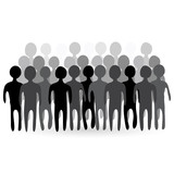 Illustration of people crowd.