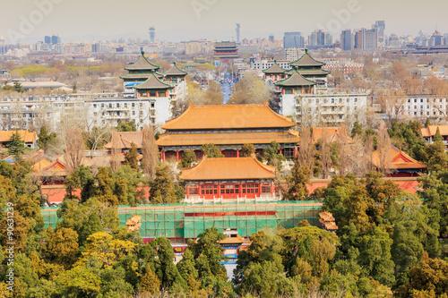 Staande foto Athene Beijing the Forbidden City building, in China