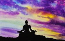 Yogi w pozycji lotosu