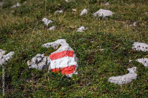 Österreich Wanderweg-Markierung
