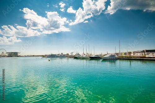 Luxury boats in Valencia marina
