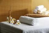 Fototapety Massage table in beauty spa salon